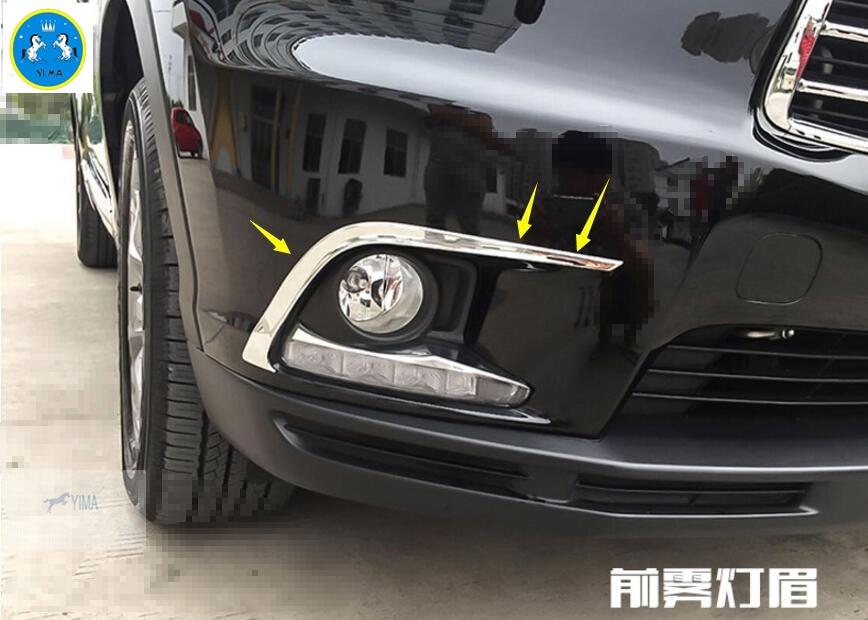 New For Toyota Highlander KLUGER 2015 2016 ABS Front Fog Light Lamp Eyelid Cover Trim 2 PCS / Set