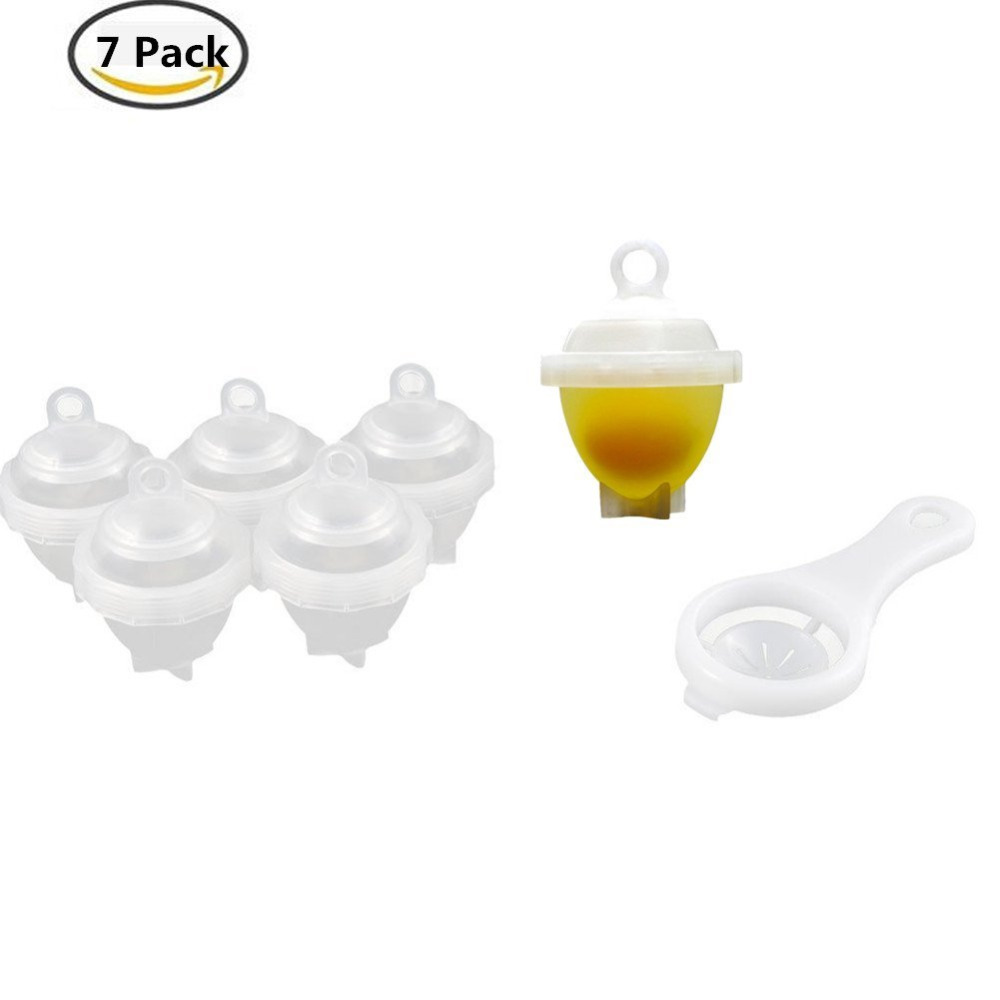 Sweettreats 7 in 1 Egg Cup Egg Cooker, Poaching Cups and Boiler with Yolk Separator Kitchen Hard Boiled without Shells