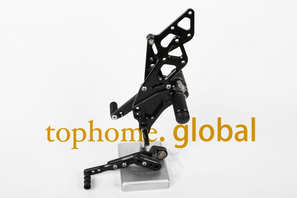 Motorcycle Black CNC Rearsets Foot Pegs Rear Set For Suzuki GSX1000R 2009-2014 2010 2011 2012 2013 motorcycle foot pegs