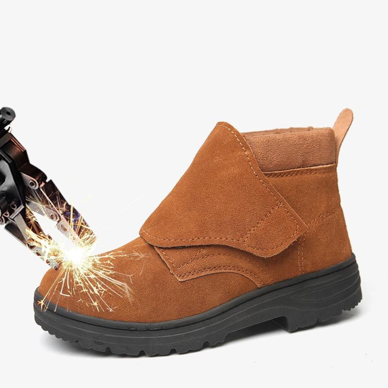 naranja Seguridad Eléctrica Oro Anti aplastamiento Medio Protección Zapatos Ventilado Trabajo Anti perforación Soldadura De qZqpOwXH