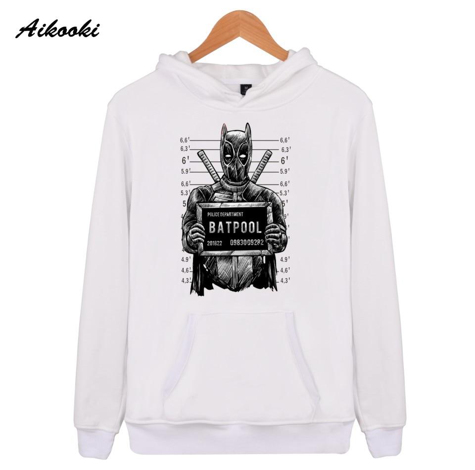 Aikooki Batpool Deadpool Hoodies en Brand Autumn Spring Mens Hoodies Sweatshirts Hip Hop New Fashion Casual Hooded Clothes