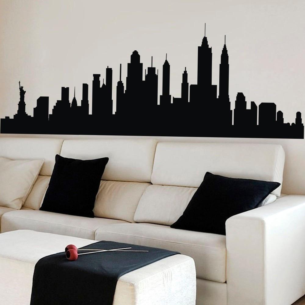 Aliexpress com : Buy Wall Decal New York City NYC Skyline