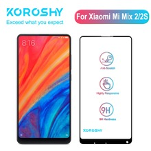 KOROSHY 9H Tempered Glass for Xiaomi Mi Mix 2 2S Xiomi Mix2 S Mix2S Screen Protector Full Cover 2.5D HD Clarity Film