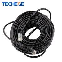 Водонепроницаемый 10 м 15 м 20 м 30 м 50 м CAT5E Ethernet сетевой кабель RJ45 патч кабель LAN для сети IP Камера Интернет POE Камера комплект