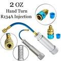 Инструменты для инжектора автомобиля R134A 2 OZ наполнителя ручного поворота впрыска автомобиля A/C масляный инжектор красителя адаптер 1/4 SAE