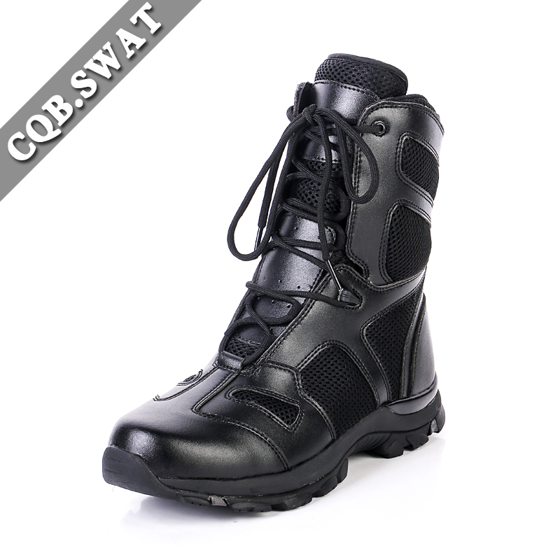 103df135068 US $42.75 50% OFF|CQB.SWAT 2018 Army Black Lace up Combat Boots summer mesh  Mens Tactical Solid Summer Mesh Military Boots ZD 103 Cold Wind-in Basic ...
