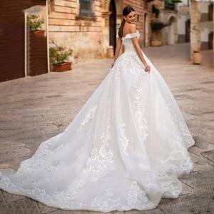 Image 2 - Eightree Elegant Off the Shoulder Ball Gown Sweetheart Appliques Wedding Dress Princess Vestidos De Fiesta De Noche Big Tail