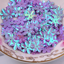 Fashion 500pcs 12mm cup six petals flower Violet sequins Jewelry Accessories cloth crafts confetti clothing