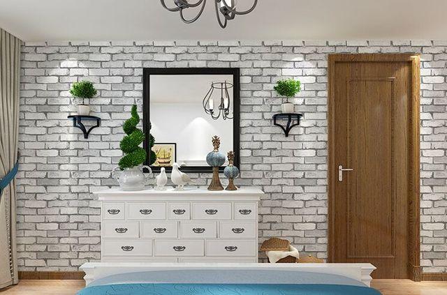 Junran vintage d grijs baksteen behang in cultuur metselwerk muur