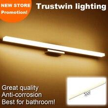 Lámpara de pared moderna de acero inoxidable, aplique de luz para espejo de baño con LED moderno, resistente al agua, 8W, 14W, 16W, 18W, 40CM, 80CM, 100CM, 120CM