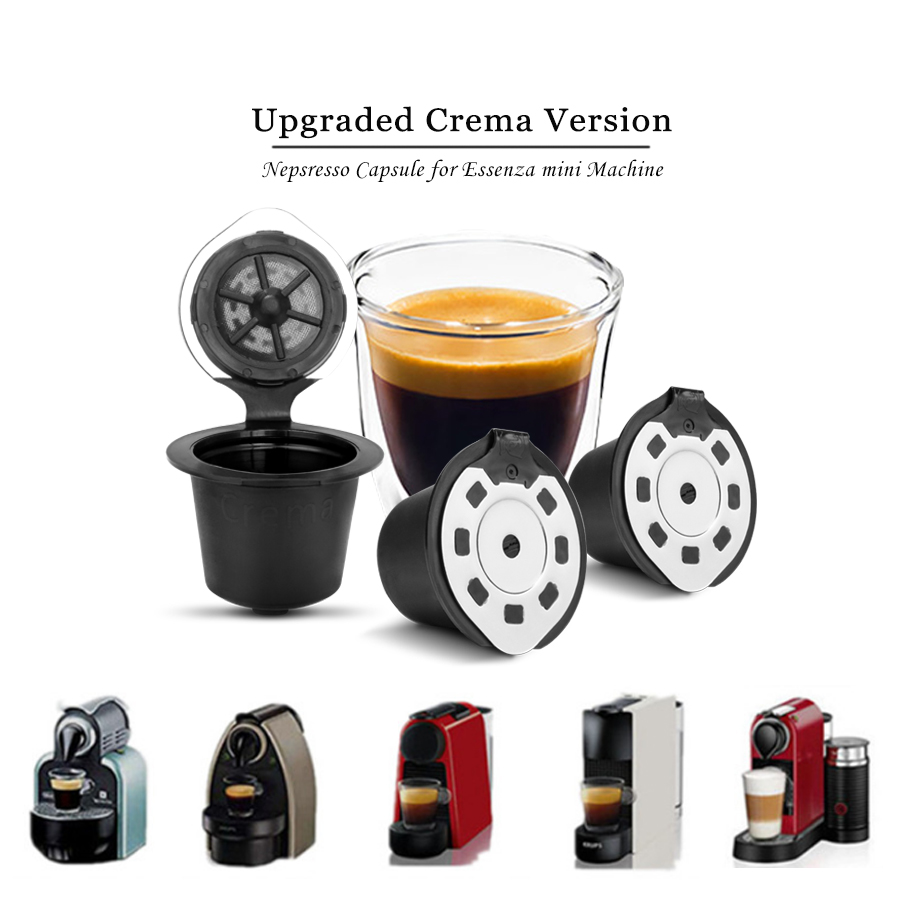 Upgraded Version 3/4pcs Refillable Nespresso Capsule for Nespresso Coffee machine Refillable Capsule Reusable Nespresso Capsule