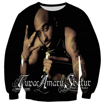 2018 New Fashion Men/women's Pullover Hip-hop Hoodies Print 2pac Tupac 3d Sweatshirt Long Sleeve Crewneck Casual Sweats casual thick wool liner hip hop jackets men punk fashion coats long sleeve hooded clothes the superhero 3d print sweatshirt 2019