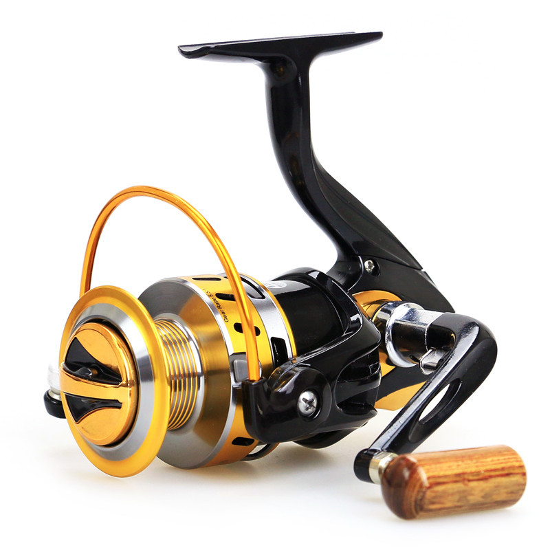 YUYU Hot Fishing Reel Spinning Reel Ratio 5.5:1 series 2000 - 7000 Full Metal spool Brass Carp SaltWater Wheel Trolling Coils