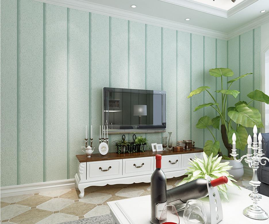 ФОТО Mediterranean-wide stripe wallpaper non-woven wallpaper bedroom living room backdrop roll wallpapers