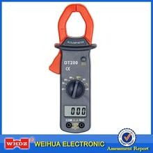 WHDZ DT200 цифровой клещи обнаружения диодов ток напряжение Сопротивление Тест зуммер и Функция удержания данных