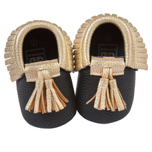 ROMIRUS Baby Moccasin Newbron Baby First Walker Soft Bottom Non-slip Baby Shoes Kids Leather Prewalkers Boots GOLD
