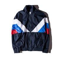 2018 new Jacket Women Men 1:1 High Quality Russia Flag 100% Cotton Jacket Windbreaker Jacket