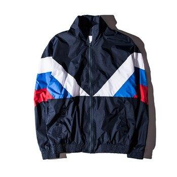 2018 nouvelle veste femmes hommes 1:1 haute qualité russie drapeau 100% coton veste coupe-vent veste