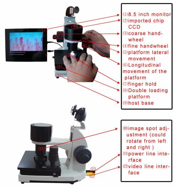 Hot sale! Nailfold video capillaroscope detection instrument ...