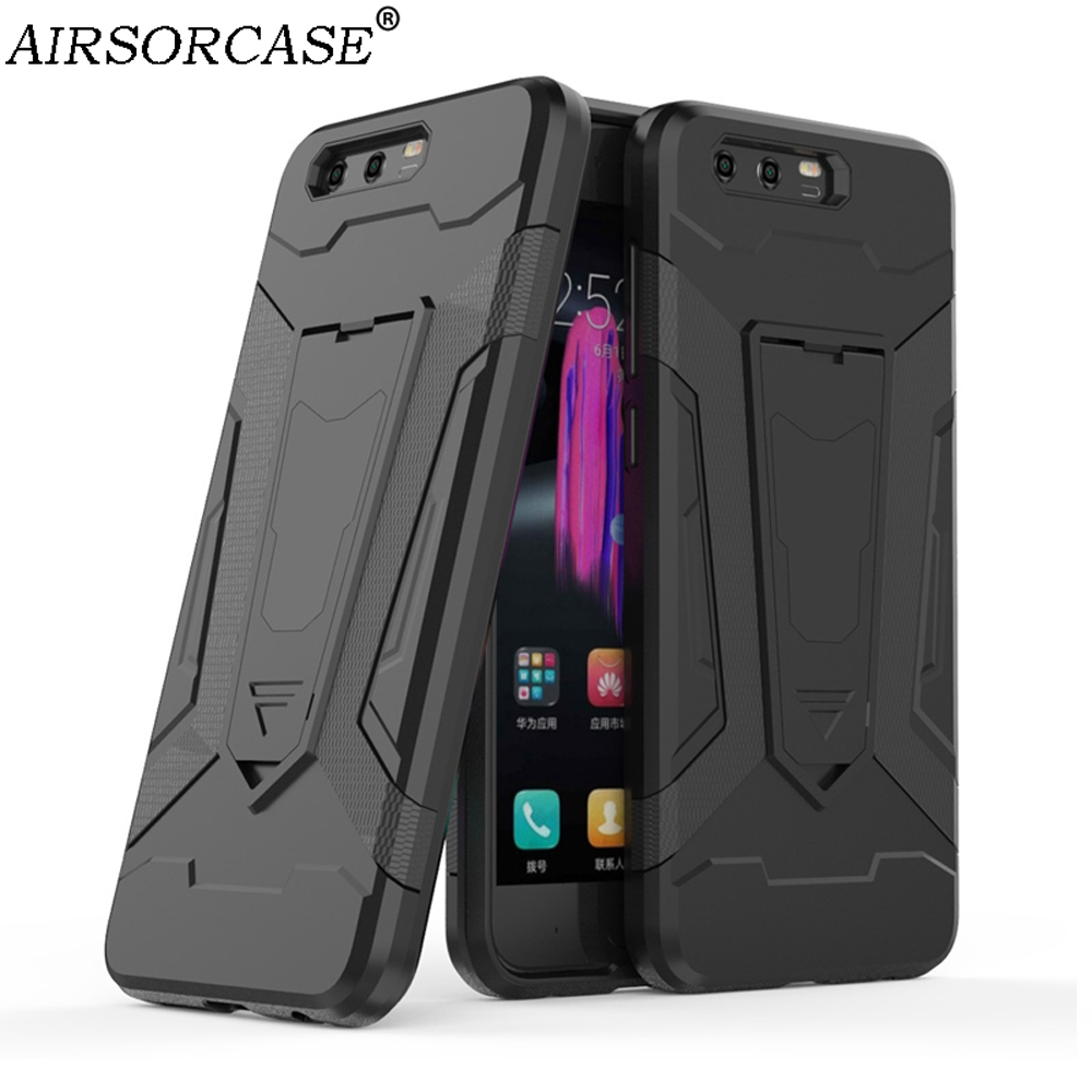 Mobile Phone Cases For Huawei Honor 9 Cover for HUAWEI Honor9 Case Quality Hard PC & TPU Hybrid Armor Kickstand Back Cover