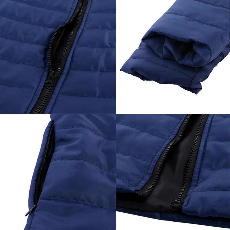 シュージン男性秋冬パーカージャケットプラスサイズコート 5XL 男性生き抜く薄型スリム綿パーカーダウンジャケットオムオーバーコート