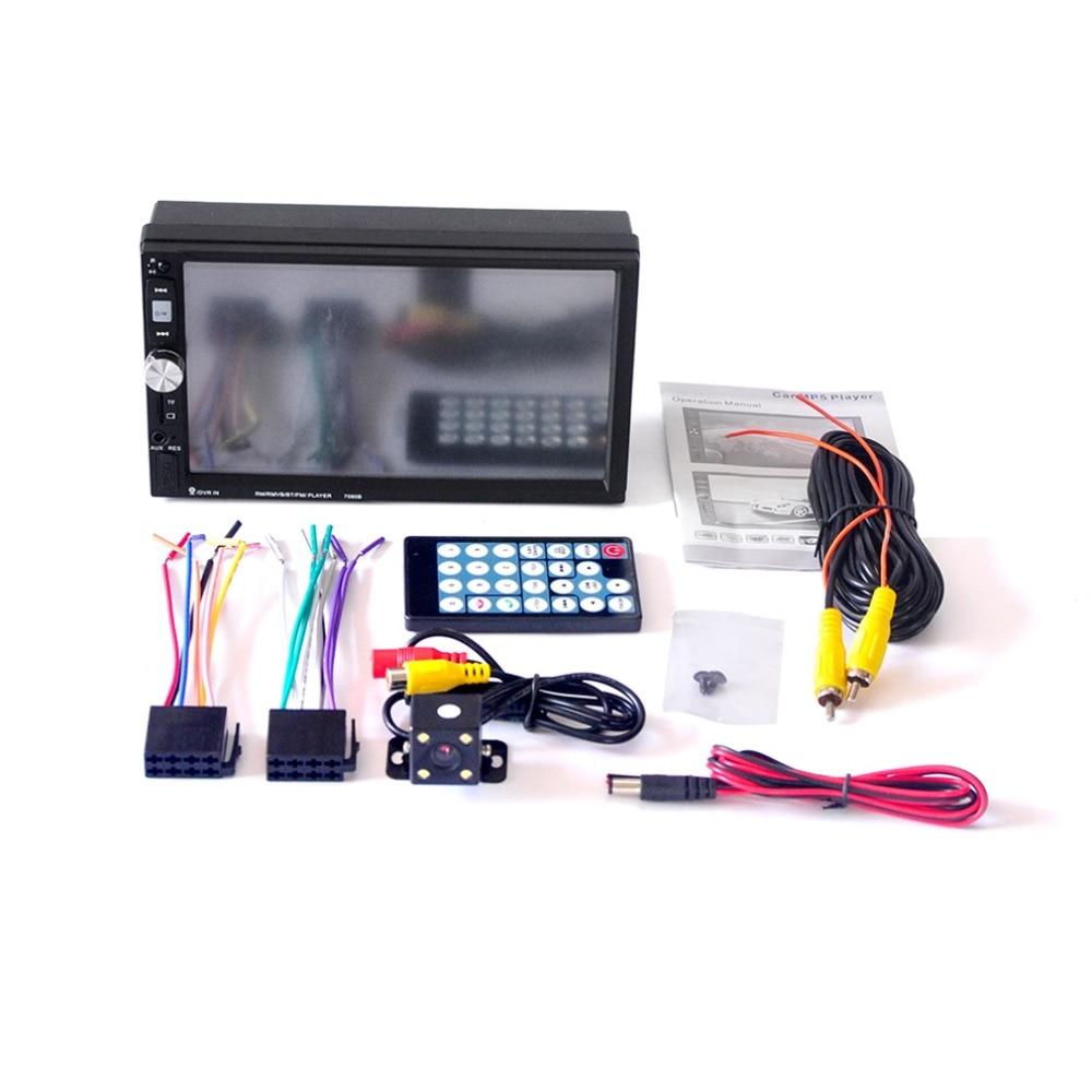 7 дюймов 7080B автомобиль видеоплеер с Сенсорный экран Bluetooth стерео радио Автомобильный MP3/MP4/MP5 автомобиль USB с заднего вида Камера и Remoto