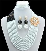 african bridal Crytal Beads austrian crystal fashion necklace earrings luxury jewellery set wedding women bridal gift
