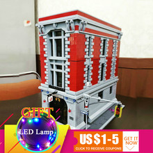 16001 4695Pcs Ghostbusters Firehouse Headquarters set Compatible with 75827 Building Blocks For Children Model Toys