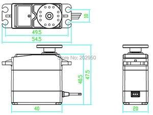 Image 5 - DS3120 20KG High Torque Servo Metal Gear Steering Servo For HSP 1/8 1/10 RC Car 94188 94111 94123 94762 Baja 180 270 Degree