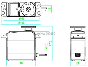 Image 5 - Servomotor de alta torsión para coche de control remoto, DS3120, 20KG, Servo de dirección de engranaje de Metal para coche de control remoto HSP 1/8, 1/10, 94188, 94111, 94123, Baja, 94762, 180, 270 grados