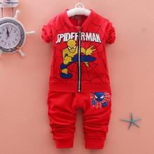 Spiderman Baby Boys Clothing Kid Sweatshirts Coat SportsWear Outfit Spring Autumn Clothing Super Hero Jacket Boys Clothes Set