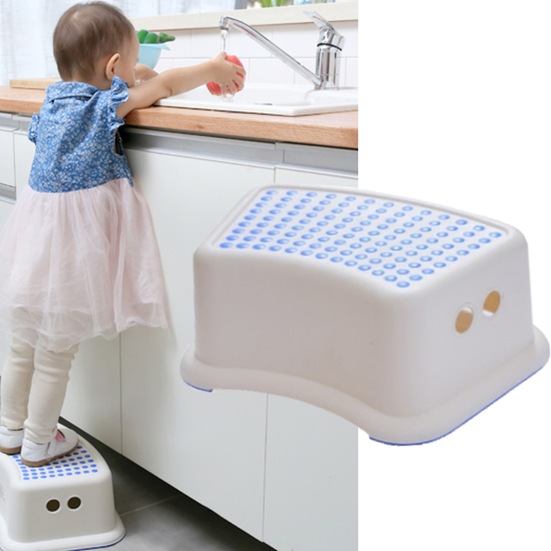Bathroom Stool Step-Pads Foot-Pedal Stair Children Headblock Anti-Skid Slip-Resistant