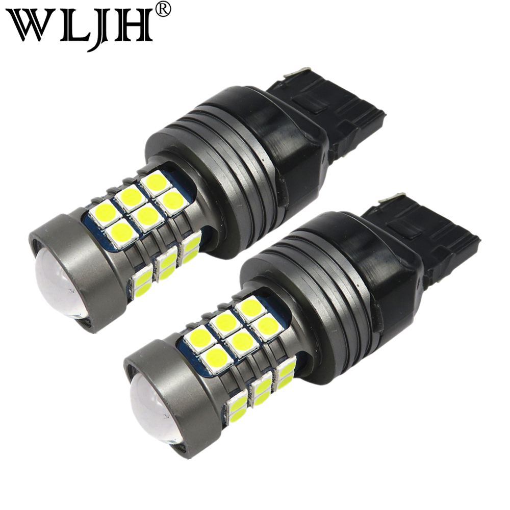 WLJH 2x Canbus 27W 7440 7440A <font><b>T20</b></font> <font><b>LED</b></font> <font><b>Bulb</b></font> Front <font><b>Rear</b></font> Turn Signal Tail lights Daytime Running DRL Lights for Honda Buick Dodge image