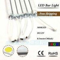 30set 7W 50CM 5050 rgb luces strip U Groove 72LEDs/M DC12V led rgb bar light + PC cover + 12V 5A Power Supply + 44key controller