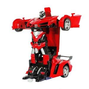 Image 3 - 2In1 RC Voiture De Sport De Voiture Transformation Robots Modèles Télécommande Déformation De Voiture RC combats jouet Cadeau Danniversaire de KidsChildren