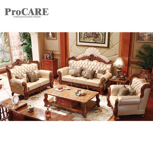 Us 4099 0 Wood Sofa Set Design For Living Room Furniture A951b In Sofas From On Aliexpress