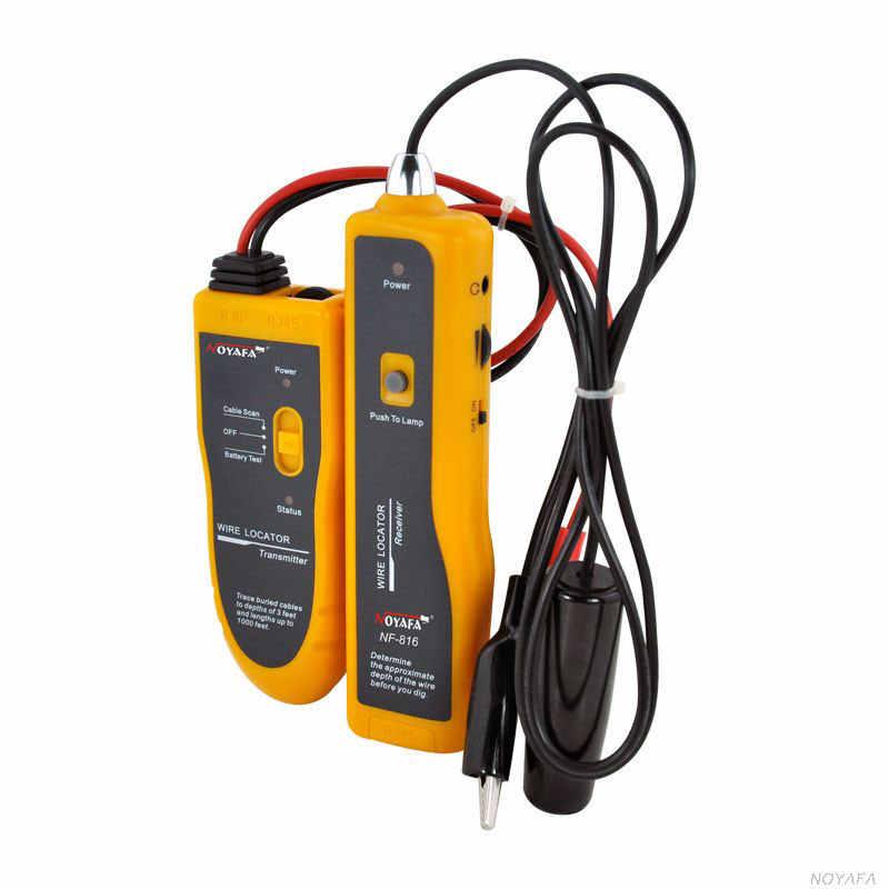 Envío Gratis NF816 localizador de Cable subterráneo, buscador de cables buscador de fallas herramientas de buscador de Cable de red localizador de alambre subterráneo