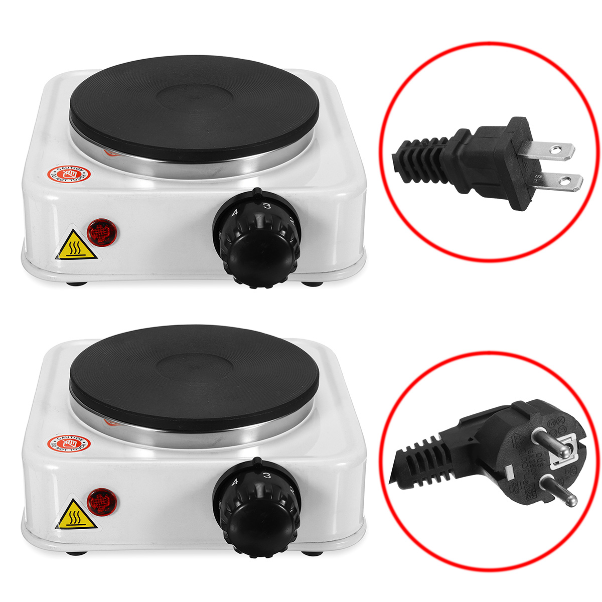 110VUS/220V EU Quick Sustained Heat 1000W Electric Burner Stove Eco-friendly Hot Plate Portable Kitchen Cooker Coffee Pot Heater цена