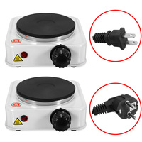 110VUS/220V EU Quick Sustained Heat 1000W Electric Burner Stove Eco friendly Hot Plate Portable Kitchen Cooker Coffee Pot Heater