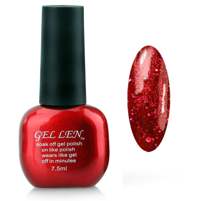 Gel Nail Polish Sale: Gel Len Glitter Soak Off Nail Gel Polish Hot Sale Long