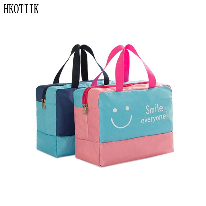 New Fashion Cosmetic Bag Large Capacity Wet and Dry Separated Waterproof Cosmetic Bag Storage Bag Organizer Free Shipping картридж epson stylus pro 7900 9900 c13t636a00