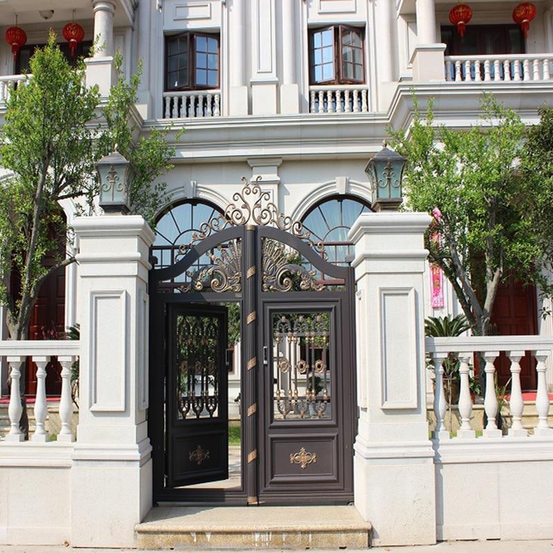 Aluminum Garden Fence Gate/Metal Yard Gates Design Designs Hc-a5