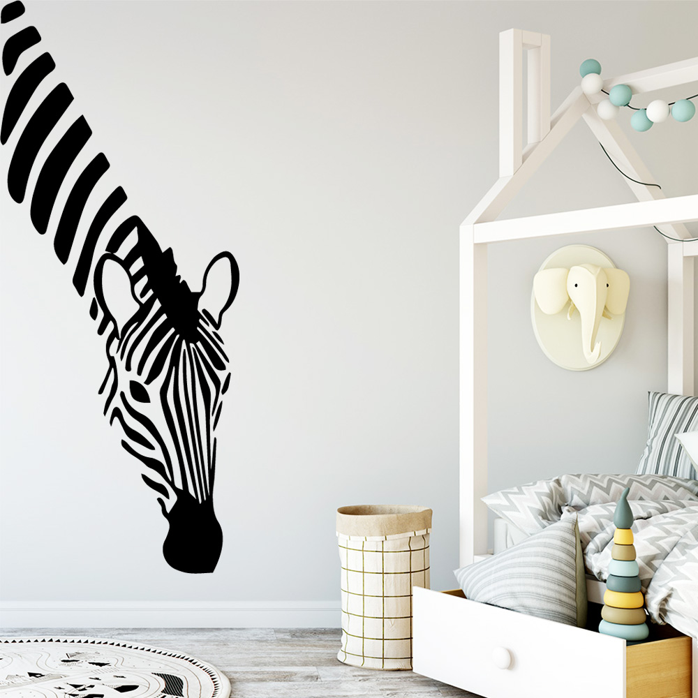 Fun Zebra Vinyl Wall Stickers Wall Decor For Kids Room Baby Room Decoration Wall Decals Creative Stickers Murals wallstickers