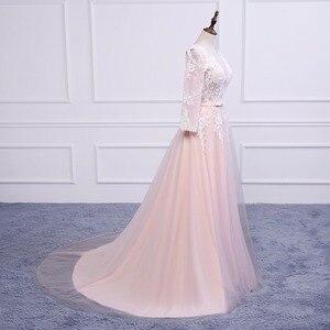 Image 4 - Asil WEISS Robe De Soiree aplikler seksi uzun abiye gelin ziyafet zarif mahkemesi tren Custom Made balo elbise