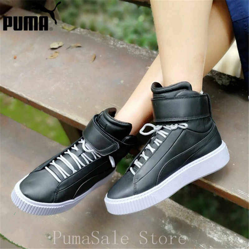 Puma Women s Platform Mid Up Trainers Shoes 364242 02 03 White Black Sneaker  Thick Bottom 634dc324b