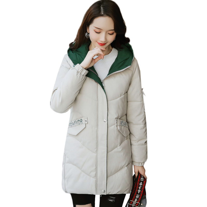 Women Down Cotton Jacket New 2019 Winter Jacket Women Thick Snow Wear Winter Coat Lady Clothing Female Jackets   Parkas   S-3XL A944
