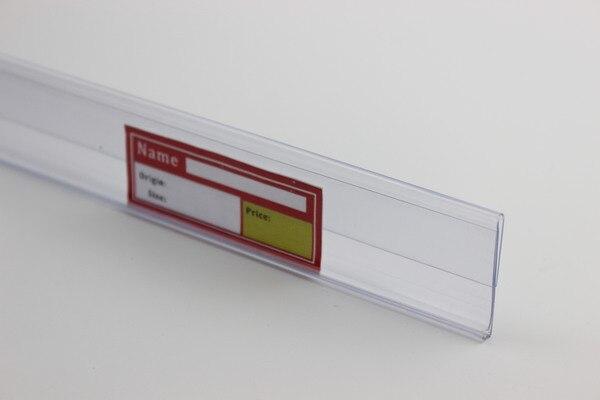Banda de datos de 32mm N S soporte de etiqueta de PVC clip de protección de estantería clip de soporte de banner de etiqueta de señal POP clip de estante-in Montura from Hogar y Mascotas    1