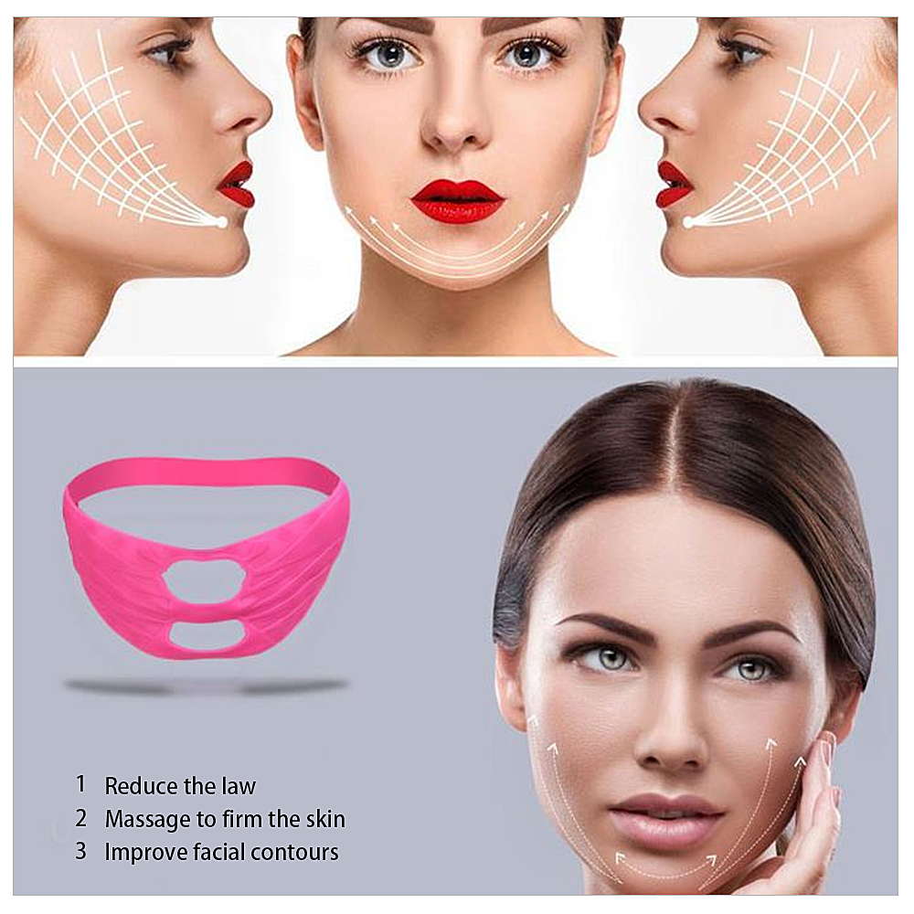 Silicone Face Lifting Firming Mask Bandage Belt V-line V-Shape Non-Surgical Remove Double Chin Facial Slimming Shaping Skin Care