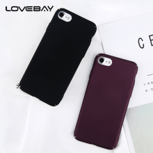 Lovebay Phone Case For Apple iPhone 6 6s Plus Fashion Plain Color Matte Hard PC Full Cover For iPhone 6s Phone Case Fundas Shell
