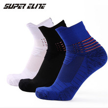 Basketball Socks (3 Pairs/lot) SUPER Elite/1008 Cotton Men Sports Outdoor Running Hiking